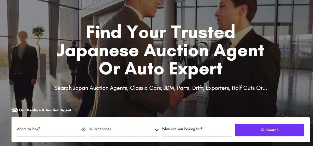 Find a reliable auction agent in Japan