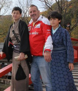 Graeme and the young Samurai