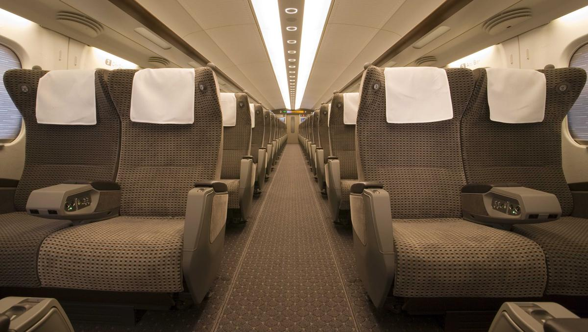 Travelling to the auction by Shinkansen